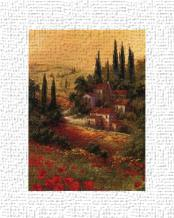 Toscano Valley II art print poster transferred to canvas