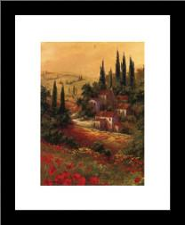Toscano Valley II art print poster with simple frame