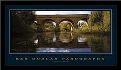 Richmond Bridge art print poster with simple frame