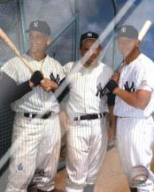 Roger Maris, Yogi Berra, and Mickey Mantle art print poster with laminate