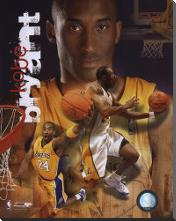 Kobe Bryant - 2006 Portrait Plus art print poster with block mounting