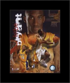 Kobe Bryant - 2006 Portrait Plus art print poster with simple frame