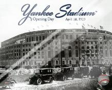 Yankee Stadium 1923 Opening Day With Overlay art print poster with laminate