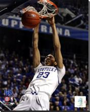 Anthony Davis University of Kentucky Wildcats 2011 Action art print poster with block mounting