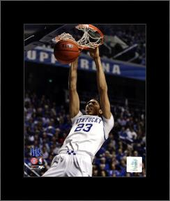 Anthony Davis University of Kentucky Wildcats 2011 Action art print poster with simple frame