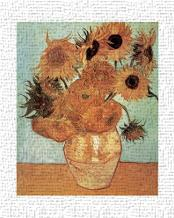Vase with Twelve Sunflowers, c.1888 art print poster transferred to canvas