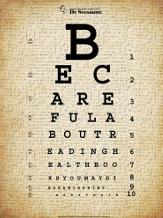 Mark Twain Eye Chart art print poster transferred to canvas