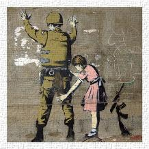 Bethlehem Wall Graffiti art print poster transferred to canvas
