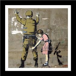 Bethlehem Wall Graffiti art print poster with simple frame