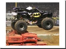 Batman Monster Truck art print poster with block mounting