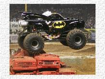 Batman Monster Truck art print poster transferred to canvas