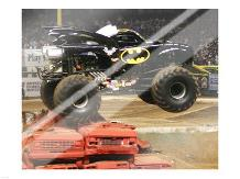 Batman Monster Truck art print poster with laminate