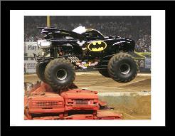 Batman Monster Truck art print poster with simple frame