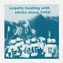 Legally Beating with Sticks Since 1492 art print poster transferred to canvas