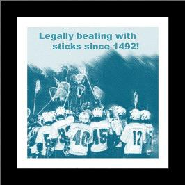 Legally Beating with Sticks Since 1492 art print poster with simple frame