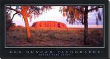 Desert Oaks Uluru art print poster with block mounting