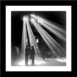 Chicago Union Station 1943 art print poster with simple frame