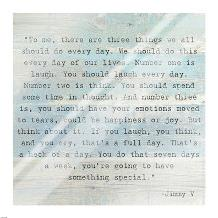 Three Things, Jimmy V Quote art print poster with laminate