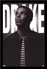 Drake art print poster with simple frame