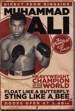 Muhammad Ali - Vintage art print poster with block mounting
