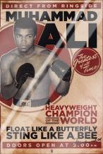 Muhammad Ali - Vintage art print poster with laminate