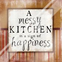 Messy Kitchen art print poster with laminate