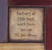 Mothers of Little Boys art print poster transferred to canvas