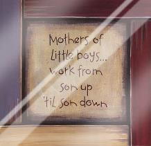 Mothers of Little Boys art print poster with laminate