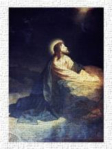 Christ in the Garden of Gethsemane Heinrich Hoffmann (1824-1911 German) art print poster transferred to canvas