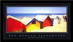 Brighton Beach art print poster with simple frame