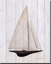 Sailboat II art print poster with block mounting