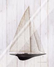 Sailboat II art print poster with laminate