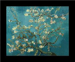 Almond Blossom art print poster with simple frame