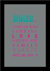 What Home Is… art print poster with simple frame