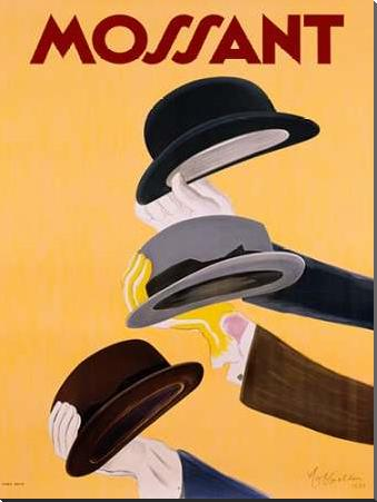 Mossant 1938 art print poster with block mounting