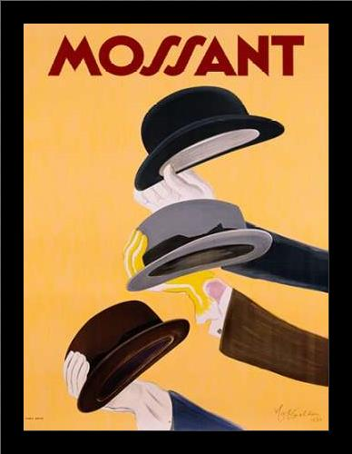 Mossant 1938 art print poster with simple frame