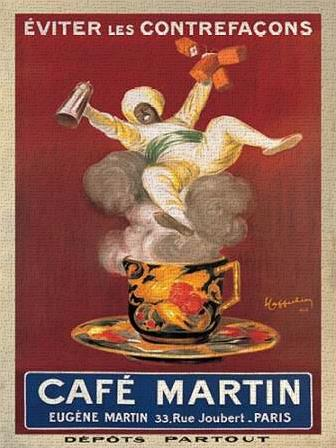 Cafe Martin-1921 art print poster transferred to canvas