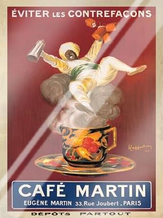 Cafe Martin-1921 art print poster with laminate