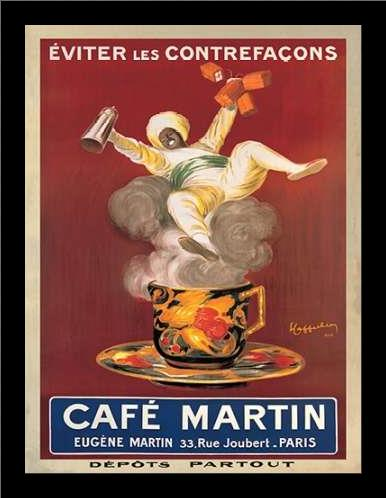 Cafe Martin-1921 art print poster with simple frame