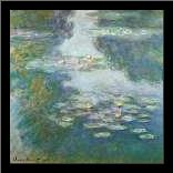 Waterlilies art print poster with simple frame