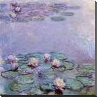 Water Lilies art print poster with block mounting