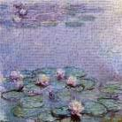 Water Lilies art print poster transferred to canvas