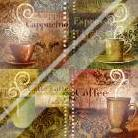 Coffee 5 Four Coffees art print poster with laminate