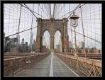 Brooklyn bridge, New York art print poster with simple frame