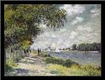 The Seine at Argenteuil art print poster with simple frame