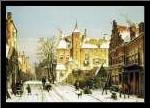 A Dutch Village In Winter art print poster with simple frame