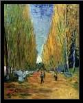 Allee des Alyscamps art print poster with simple frame