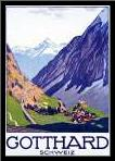Gotthard / Schweiz art print poster with simple frame