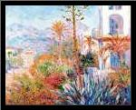 Bordighera 1884 art print poster with simple frame