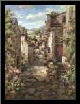Assisi art print poster with simple frame